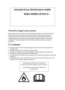 thumbnail of Manuale Utente Midea MOBILE29ECOA+