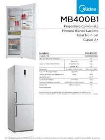 thumbnail of Scheda Tecnica Midea MB400B1