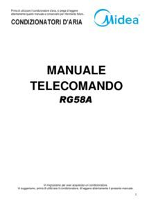 thumbnail of Manuale Telecomando MISSION – RG58A – ITA