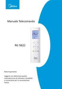 thumbnail of Manuale Telecomando RG58 ITA MD