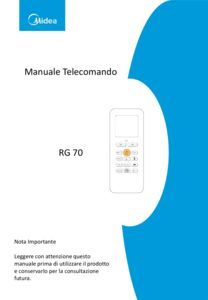 thumbnail of Manuale Telecomando RG70 ITA MD