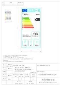 thumbnail of Midea MT585A2 Energy Label