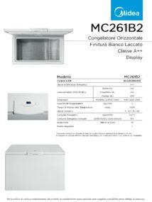thumbnail of Scheda Tecnica Midea MC261B2