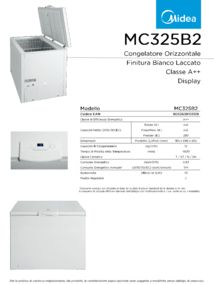 thumbnail of Scheda Tecnica Midea MC325B2