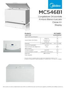 thumbnail of Scheda Tecnica Midea MC546B1